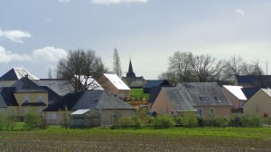 Le lotissement de la Bédennerie, vue de la route de Fromentières